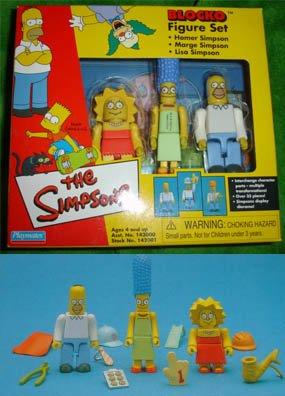 SIMPSONS set Marge HOMER Lisa Blocko figure Kubrick