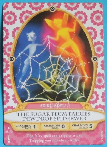 SORCERERS OF THE MAGIC KINGDOM Disney Spell Card THE SUGAR PLUM FAIRIES DEWDROP SPIDERWEB #38