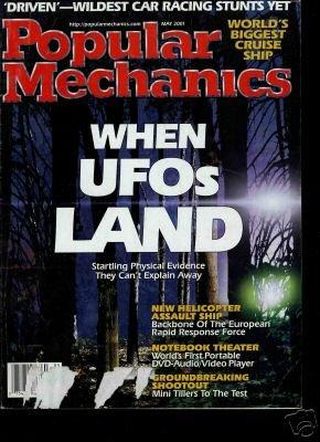 2001 POPULAR MECHANICS MAGAZINE, UFO,Cruise Ship,Stunts + Free Shipping