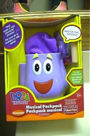 NIB Dora the Explorer Musical Backpack toy plays music and talks