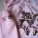 NWT Baby Gap Pony Club pink top riding pants set 18-24