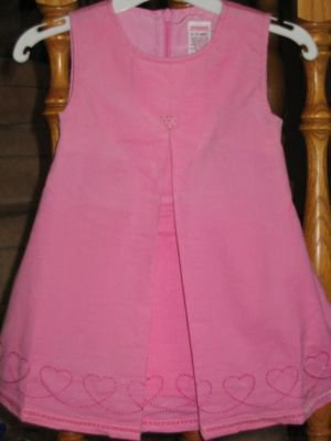 NWT Gymboree Puppy Love pink cord heart dress 12-18 new