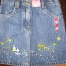 NWT Gymboree Pool Party denim skirt XL 6 new