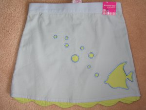 NWT Gymboree SPLASH scalloped hem fish skirt 4 new