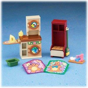 New Loving Family Laundry room dollhouse furniture NIB
