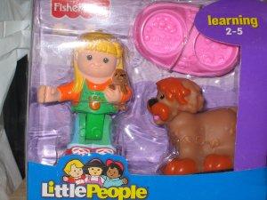 NIB Little People Shopkeeper Susan and Sheepdog figures new