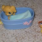 Littlest Pet Shop retriever 21 dog blue eyes tub chick 13
