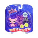 New Littlest Pet Shop Spider and Pig with web 329 330