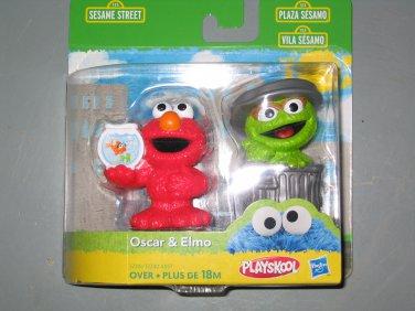 New Sesame Street figures Elmo and Oscar the grouch set