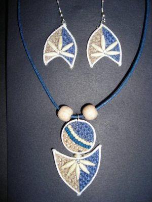 Organic fashion jewelry made with eco friendly jute