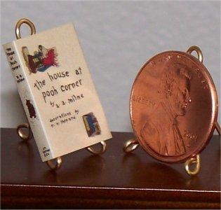 Dollhouse Miniature Book House on Pooh Corner AA Milne