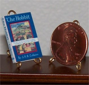 Dollhouse Miniature Book 1938 The Hobbit JRR Tolkien