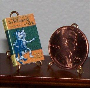 Dollhouse Miniature Book The Wizard of Oz L. Frank Baum