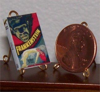 Dollhouse Miniature Book 1931 Frankenstein Photoplay Mary Shelley