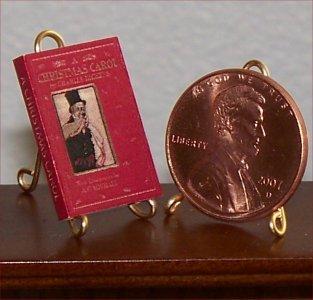 Dollhouse Miniature Book A Christmas Carol by Charles Dickens