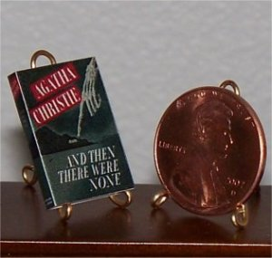 Dollhouse Miniature Book And Then There Were None Agatha Christie