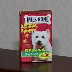 Dollhouse Miniature Food Milkbone Dog Biscuit Treats Box