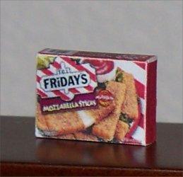 Dollhouse Miniature Food Mozzarella Sticks Grocery Box