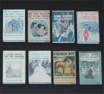 Dollhouse Miniature Book Laura Ingalls Wilder Little House Series