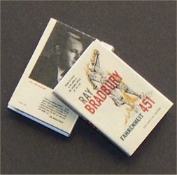 Dollhouse Miniature Book Fahrenheit 451 by Ray Bradbury