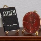 Dollhouse Miniature 1:12 Book - Anthem by Ayn Rand 1953