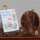Dollhouse Miniature Book The Three Little Pigs 1:12