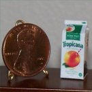 Dollhouse Miniature Orange Juice Carton Grocery Food