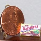 Dollhouse Miniature Chocolate Raisinets Candy Box 1:12