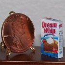 Dollhouse Miniature Dream Whip Food Grocery 1:12 Box