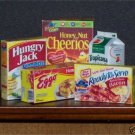 Dollhouse Miniature Food Grocery Breakfast Cereal Juice