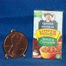 Barbie Bratz Miniature Food Apples Cinnamon Oatmeal Box
