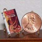 Dollhouse Miniature Book She by H. Rider Haggard 1:12