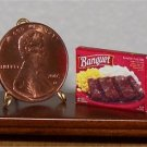 Dollhouse Miniature Pork Ribs Potatoes Corn Dinner 1:12
