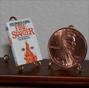 Dollhouse Miniature Book Firestarter Stephen King 1:12