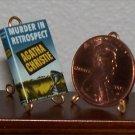Dollhouse Miniature Book Murder in Retrospect Christie