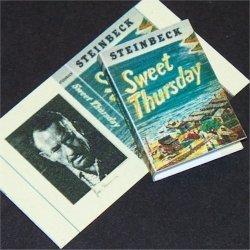 Dollhouse Miniature Book Sweet Thursday John Steinbeck