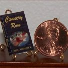 Dollhouse Miniature Book Cannery Row by John Steinbeck