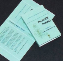 Dollhouse Miniature Book Player Piano Kurt Vonnegut Jr.