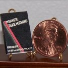 Dollhouse Miniature Winner Take Nothing ErnestHemingway