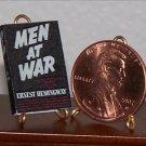 Dollhouse Miniature Book Men at War by Ernest Hemingway