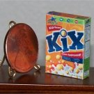 Dollhouse Miniature Food Grocery Kix Cereal 1:12 Box