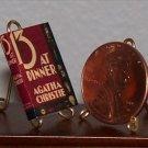 Dollhouse Miniature Book 13 at Dinner Agatha Christie