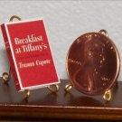 Dollhouse Miniature Breakfast at Tiffanys Truman Capote