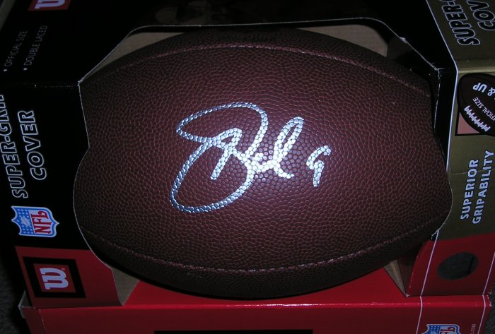 Palmer Autographed Football