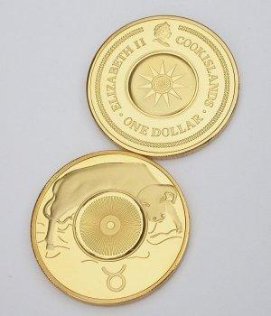 Elizabeth II Cook Islands Tauras Gold Coin