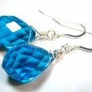 Blue Quartz Silver Earrings