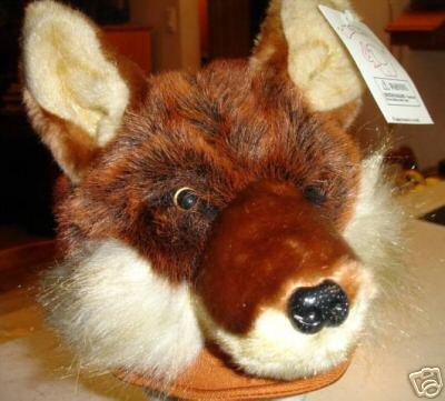 THE FOX COSTUME HAT cap & Hound reaslister animal fake fur halloween costume