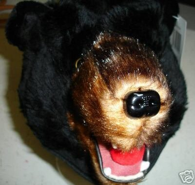 Grizzly BLACK BEAR HAT mask on head does not cover face UNISEX Halloween COSTUME furries