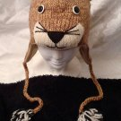 MOUNTAIN LION HAT Cougar PUMA wildcat Halloween Costume knit ski cap Animal wild cat