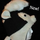 SKUNK HAT ADULT Mohawk  KNIT Ski cap BEANIE Halloween Costume Helmet Head mask handmade BLACK BADGER